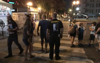 guarding a crosswalk